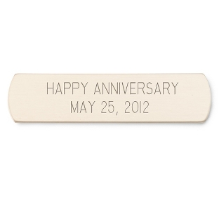 "Image of 1/2"" x 2"" Brass Plate with Rounded Edges"