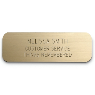 Image of 1 x 3 Gold Plastic Name Badge