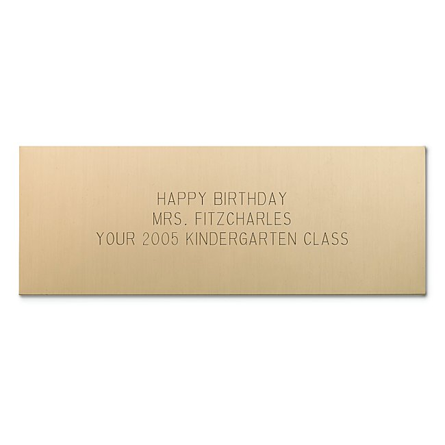 You can turn anything into a personalized gift. Just add this engraving plate and you've created a one-of-a-kind gift.