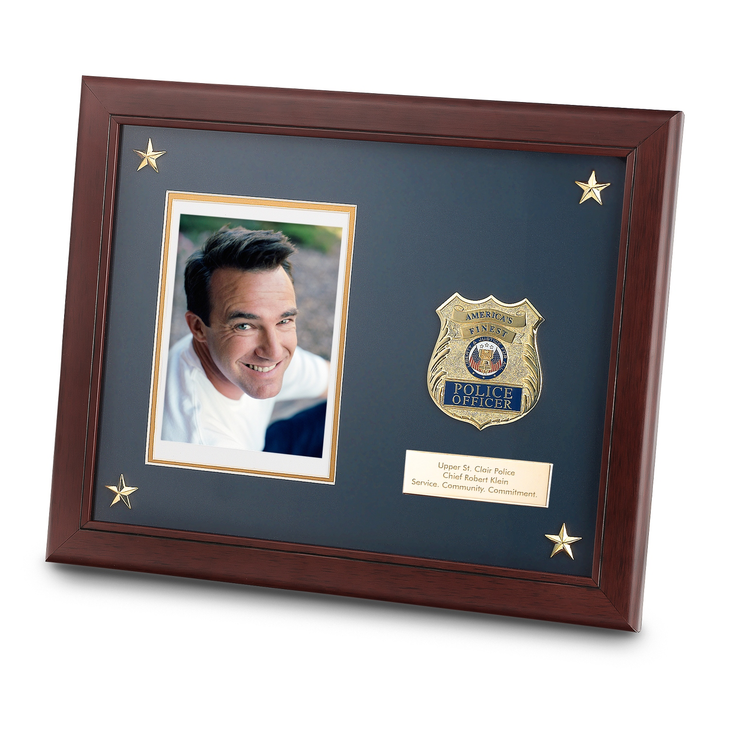 Personalized 11x14 Police Medallion Frame