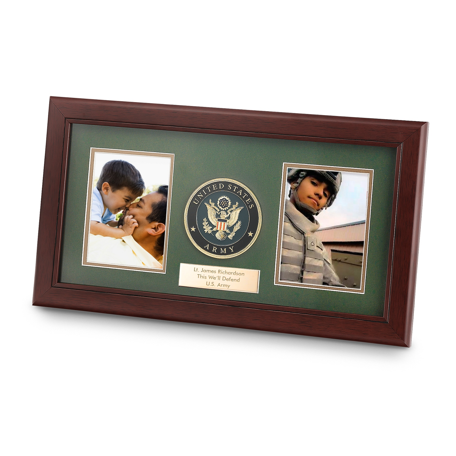 Personalized 8x16 United States Army Dual Frame