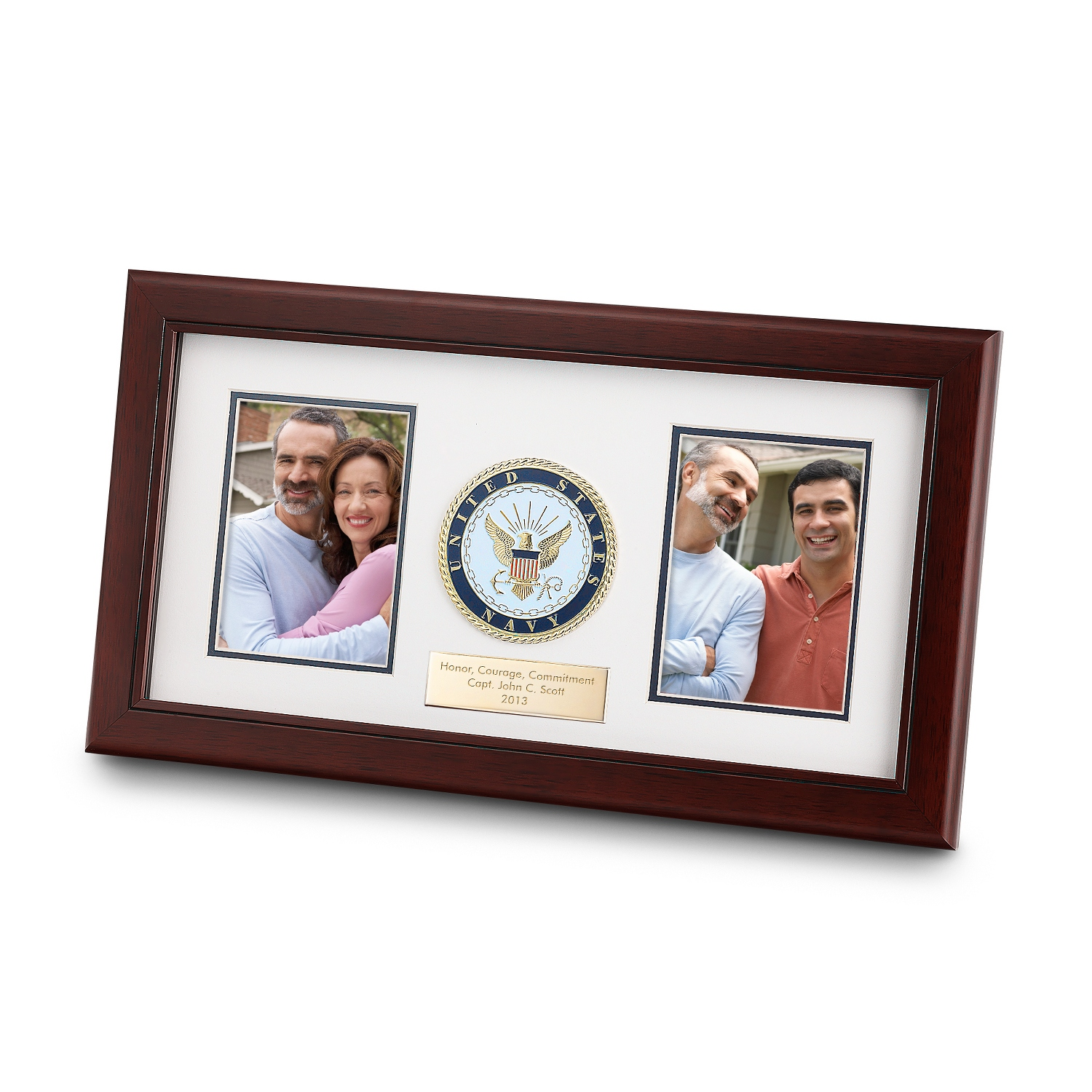 Personalized 8x16 United States Navy Dual Frame