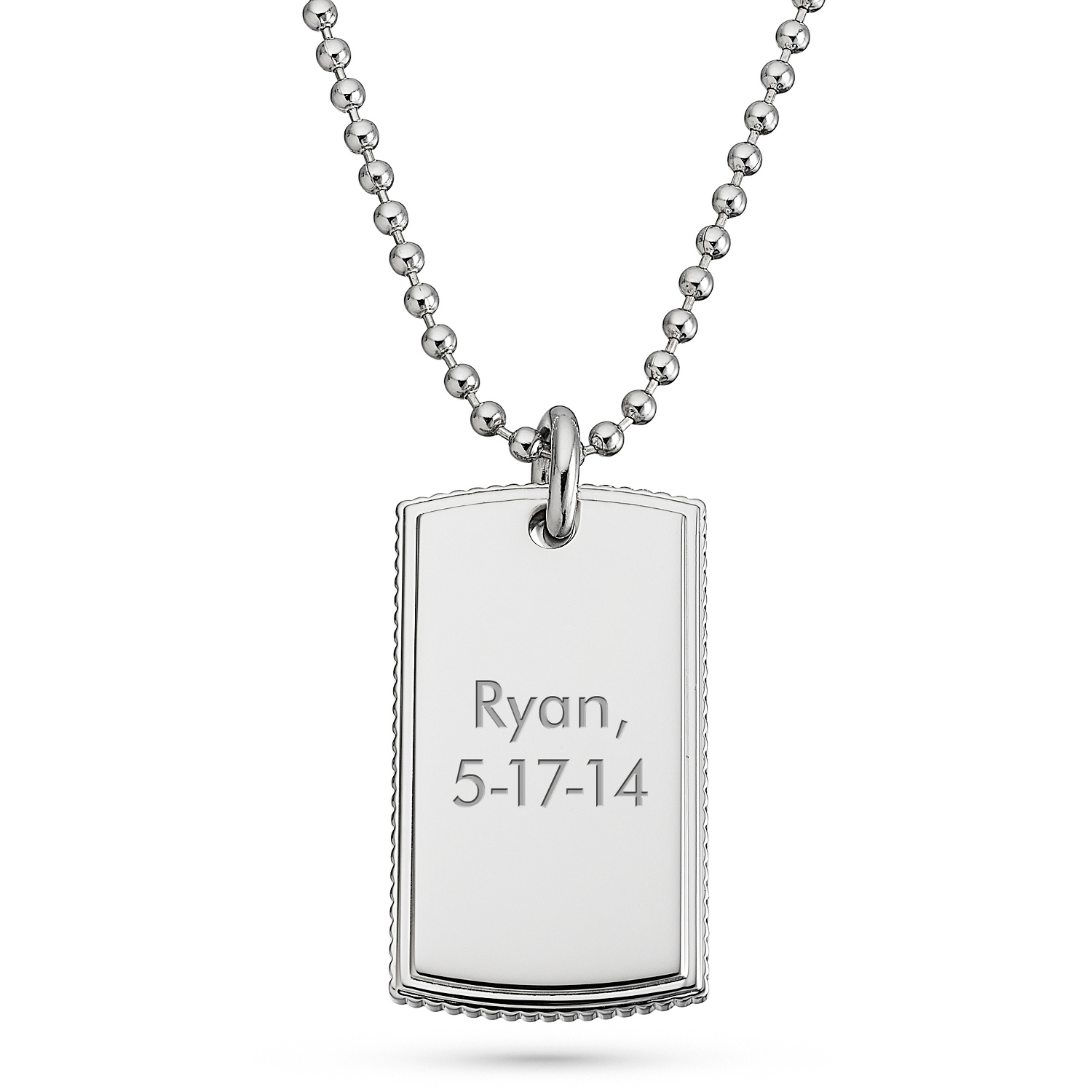 Engraved Dog Tags Pendants At Things Remembered