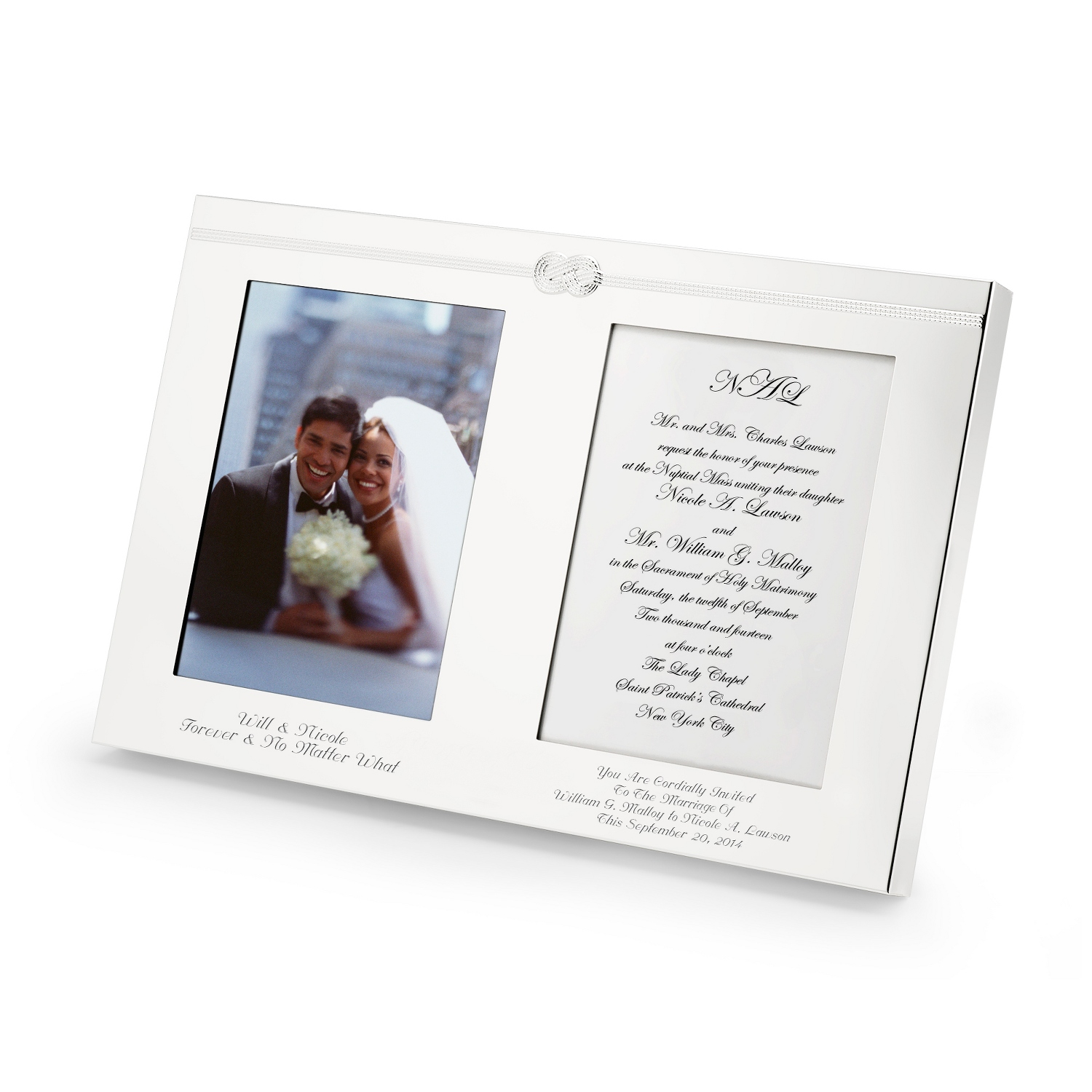 Personalized Vera Wang by Wedgwood Infinity Double Invite Frames