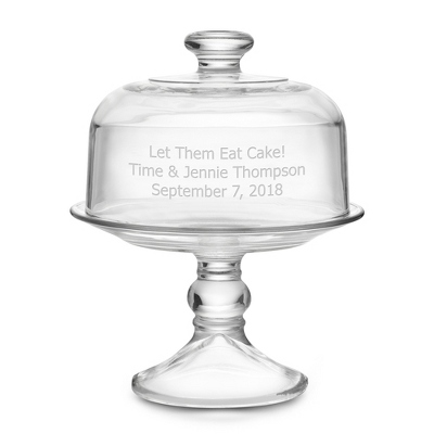 Glass Covered Cake Stand  sc 1 st  Things Remembered & Personalized Glass Cake Stand with Dome