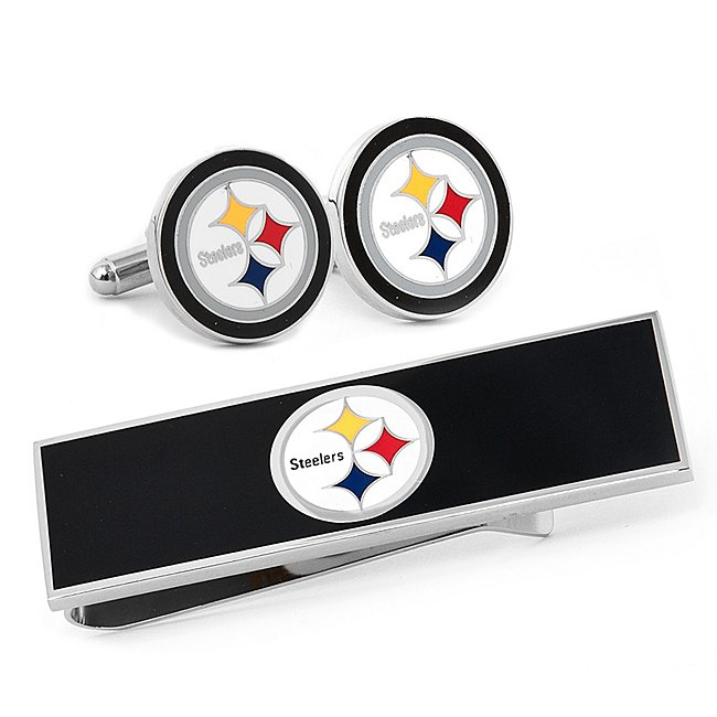 Pittsburgh Steelers Cuff Links and Money Clip