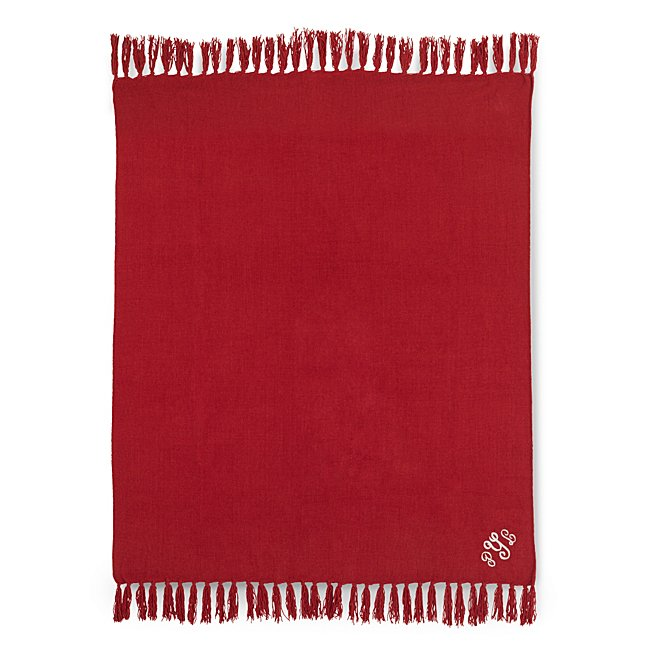 Red Chenille Throw @...