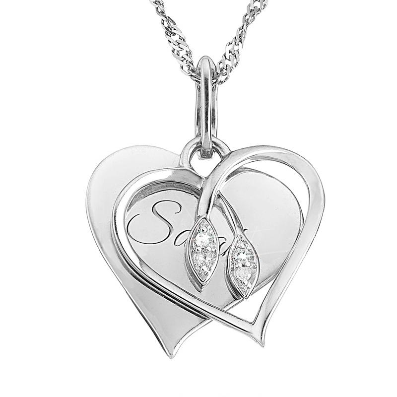 .03 CT Intertwined Diamond Necklace