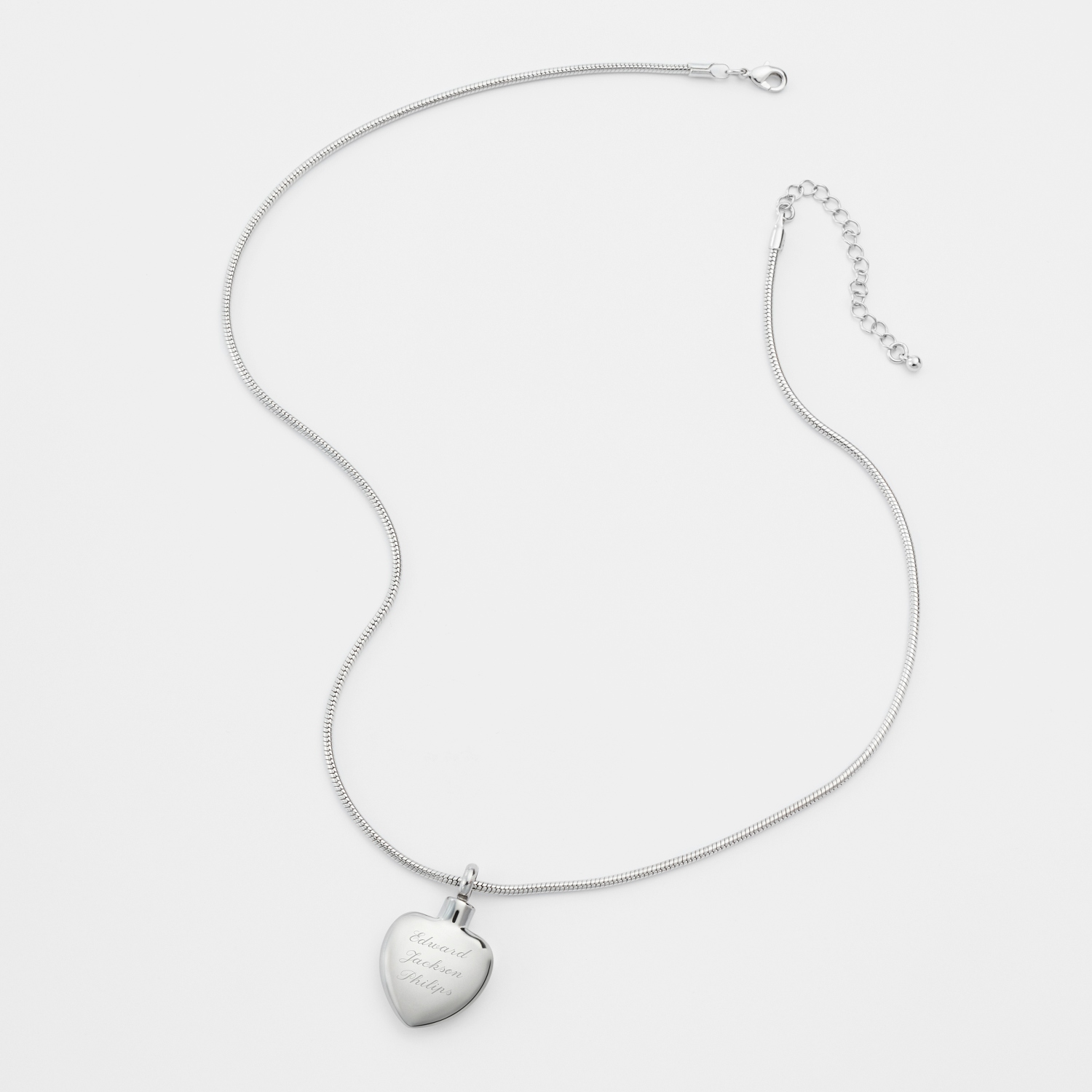personalized memorial urn necklace