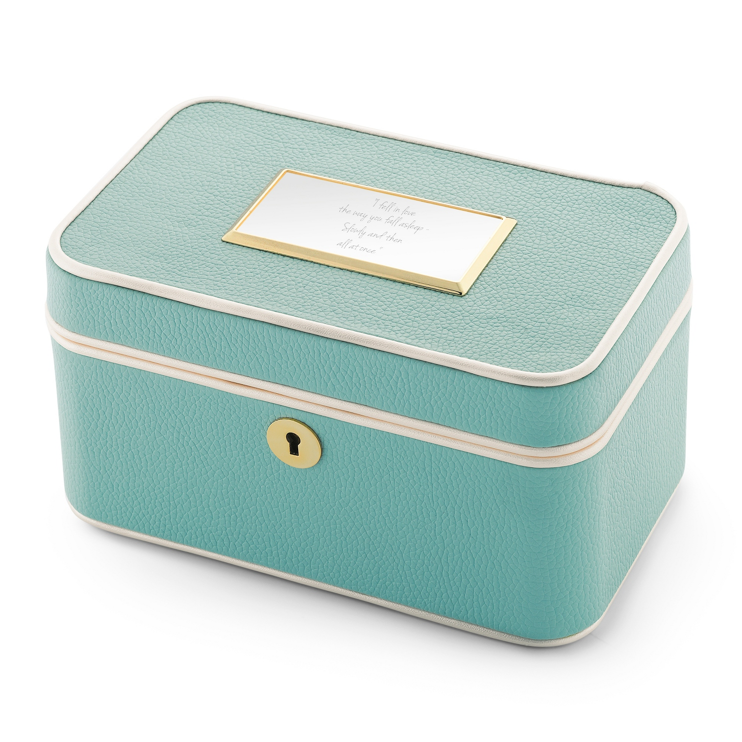 Mint train case jewelry box for Things remembered jewelry box
