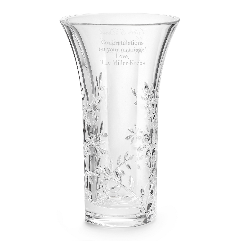 Personalized Vera Wang By Wedgwood Leaf Vase