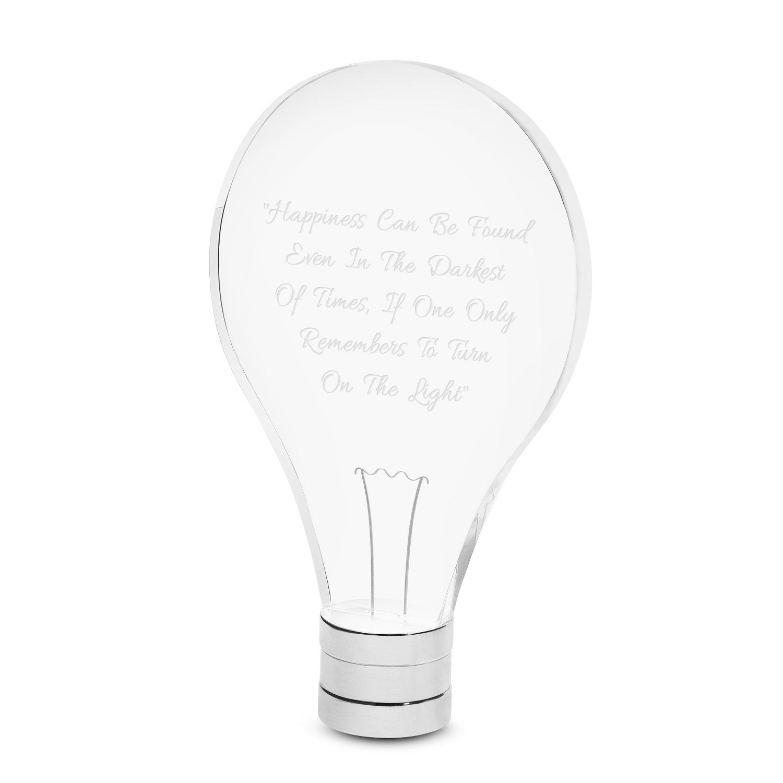 Personalized LED Light Bulb Award