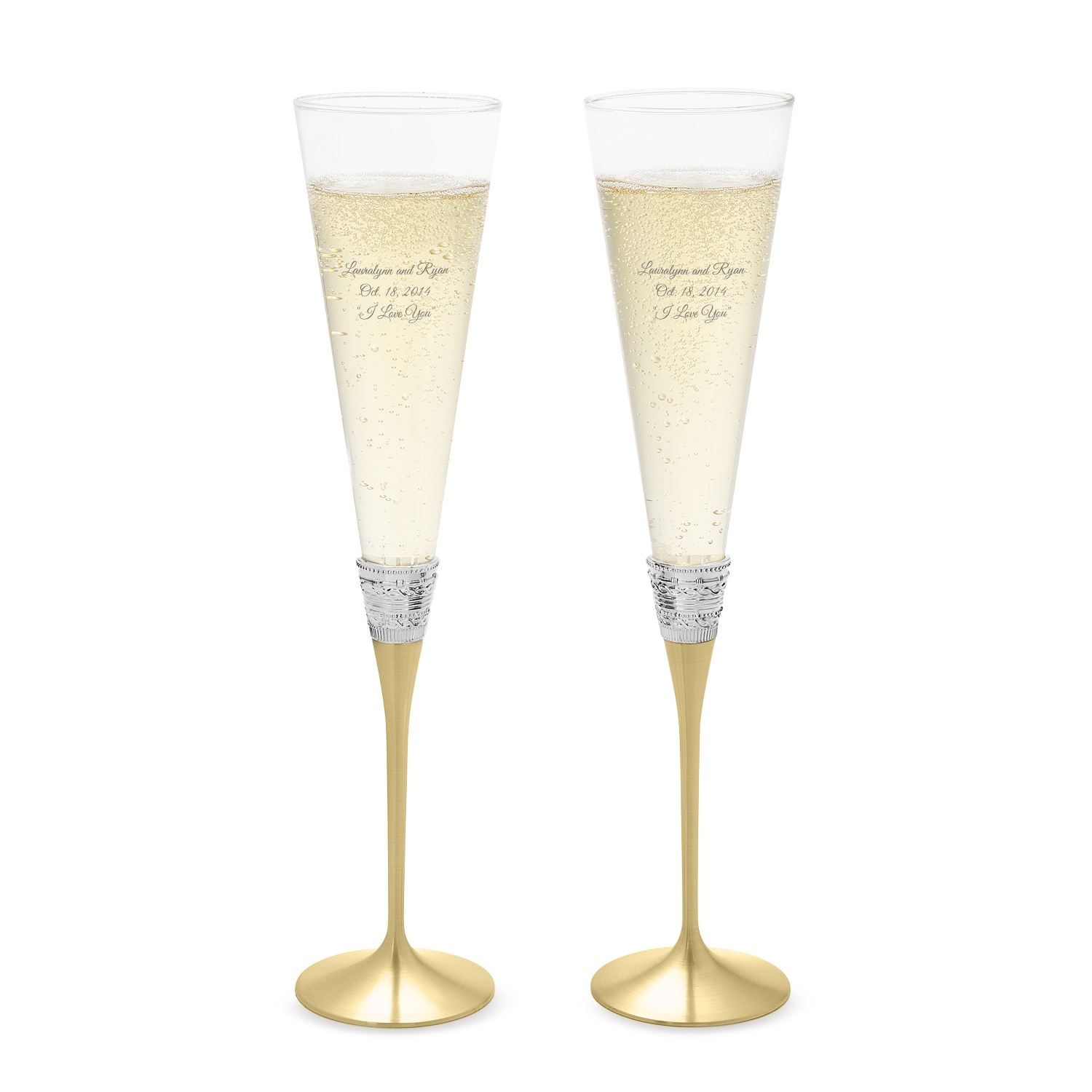 Personalized Vera Wang by Wedgwood With Love Gold Toasting ...