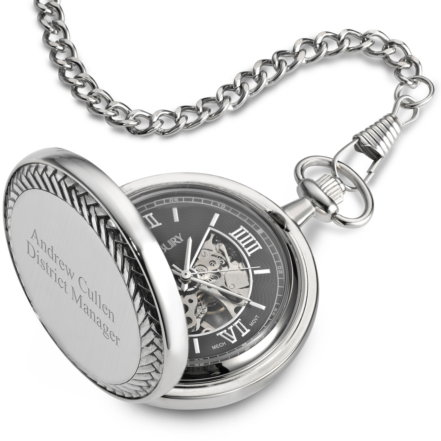 Engraved pocket watches at things remembered textured vintage pocket watch jeuxipadfo Image collections