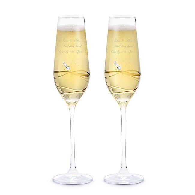 Crystal Toasting Flutes with Swarovski Elements