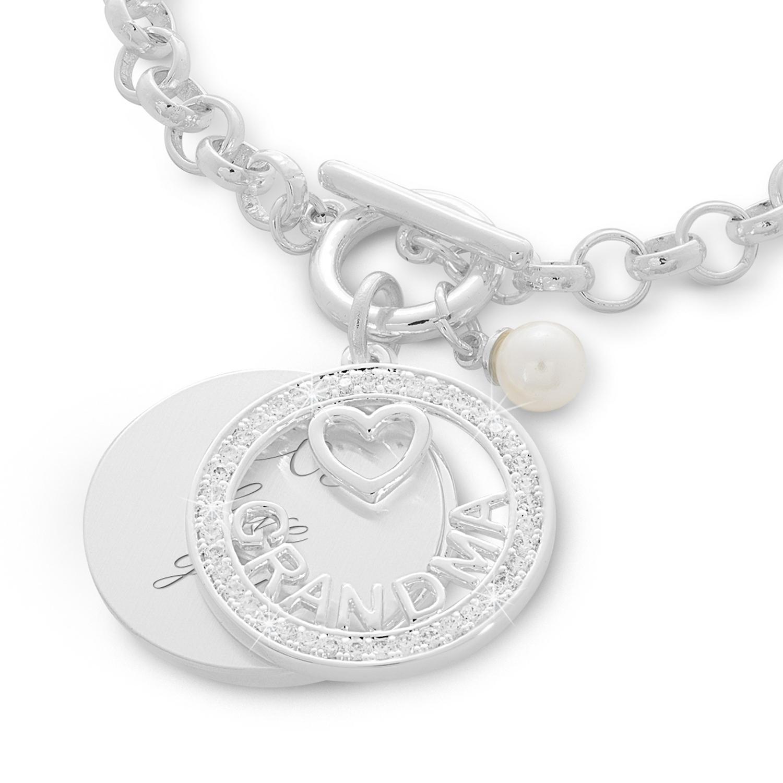 Grandma Swing Heart And Pearl Bracelet