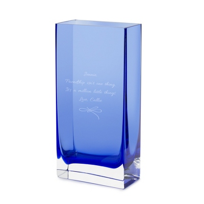 deep blue glass vase by things remembered