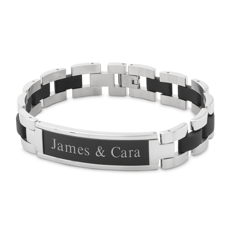 Black Matte Xl Id Bracelet