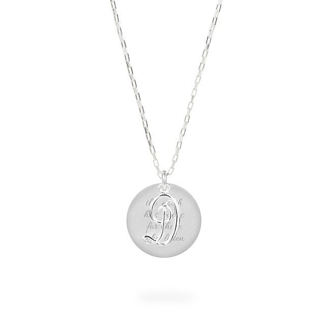 Sterling Silver D Initial Swing Charm Necklace