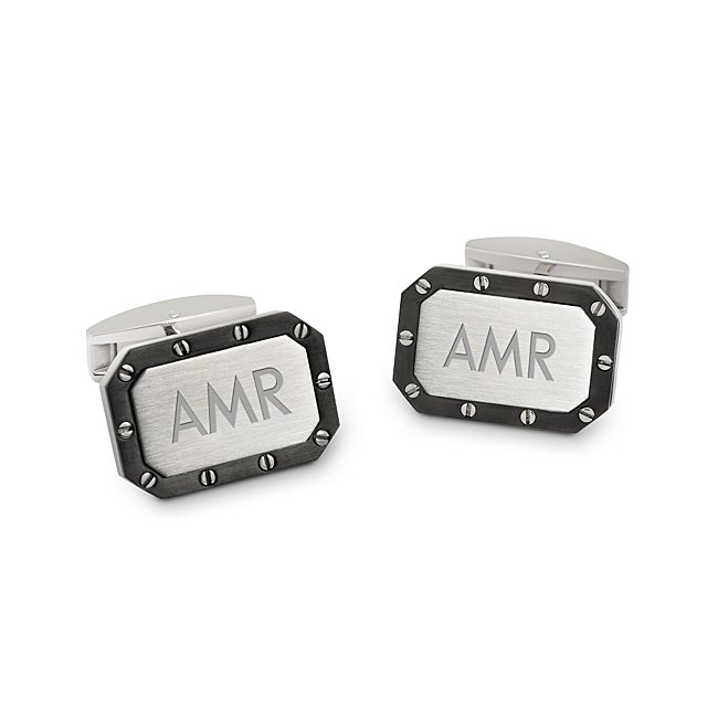 Riveted Titanium Cuff Links with complimentary TriTone Valet Box