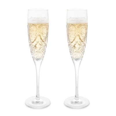 waterford crystal wedding true love toasting flutes - Waterford Champagne Flutes