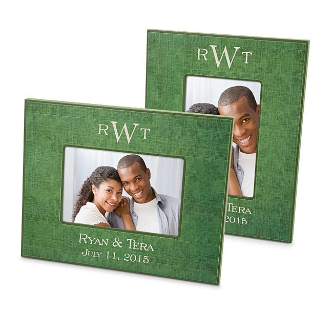 Green Wood Picture Frames...