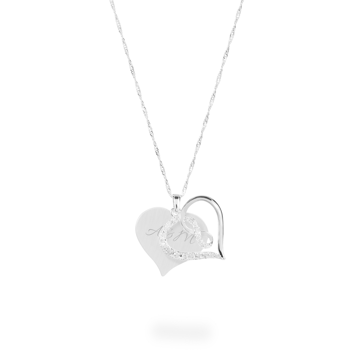 Engraved pendant necklaces at things remembered infinity heart crystal swing necklace aloadofball Gallery