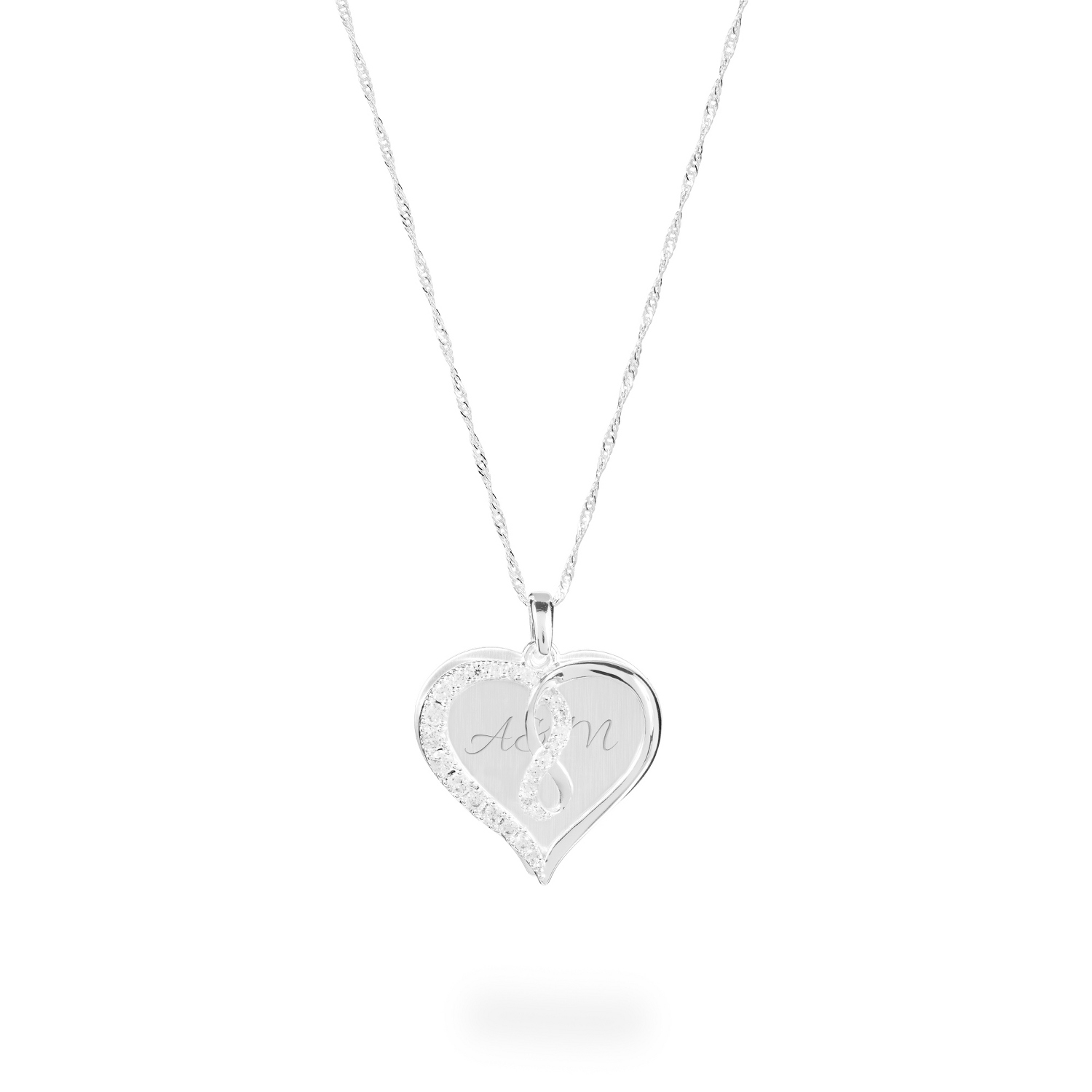 dc357c0c44bfc Infinity Heart Crystal Swing Necklace
