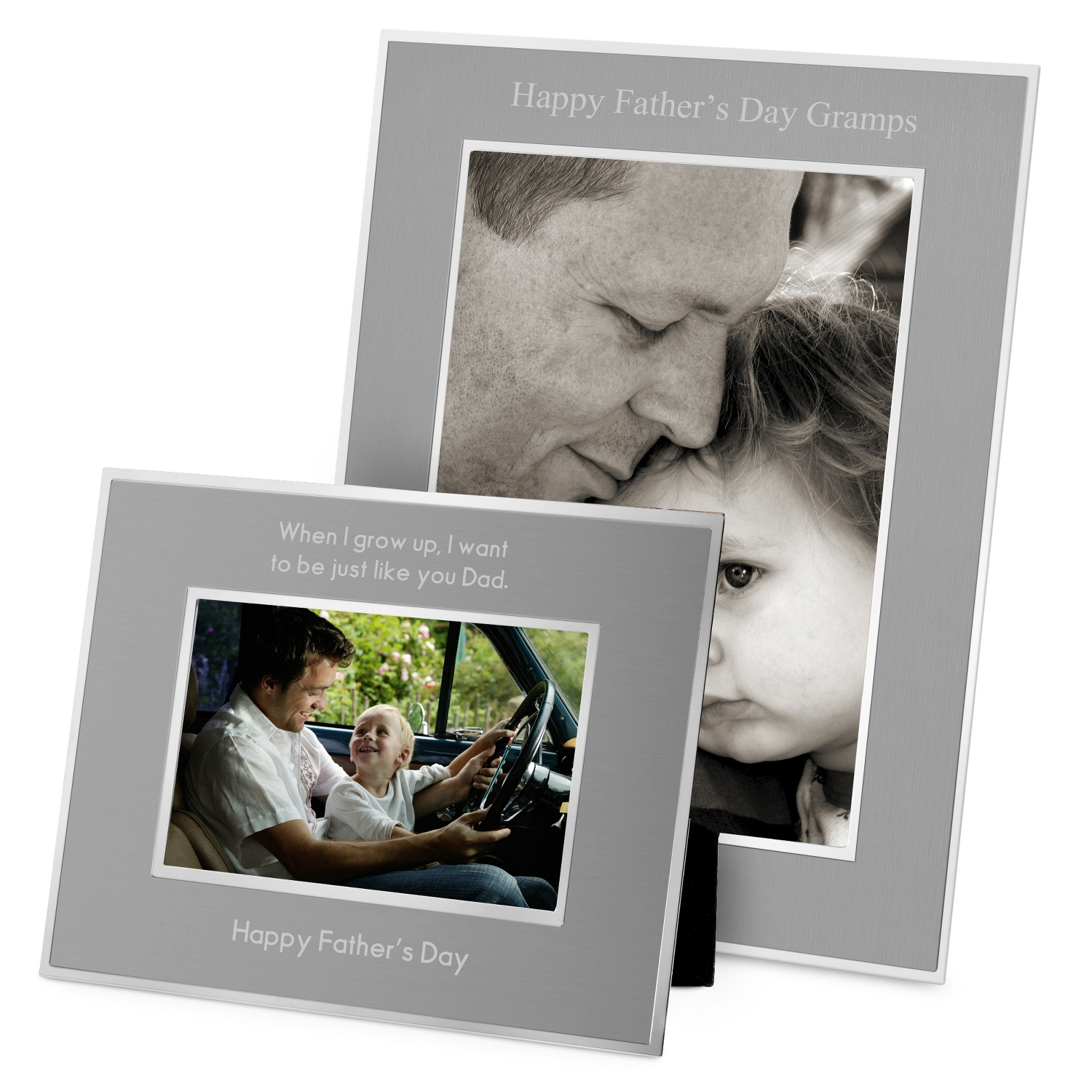 Personalized picture frames at things remembered flat iron gunmetal picture frames jeuxipadfo Image collections