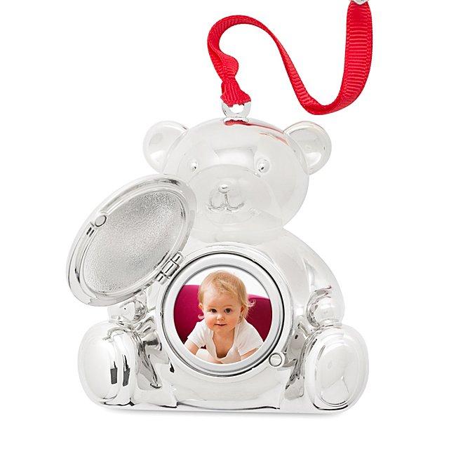 Personalized Teddy Bear Photo Christmas Ornament