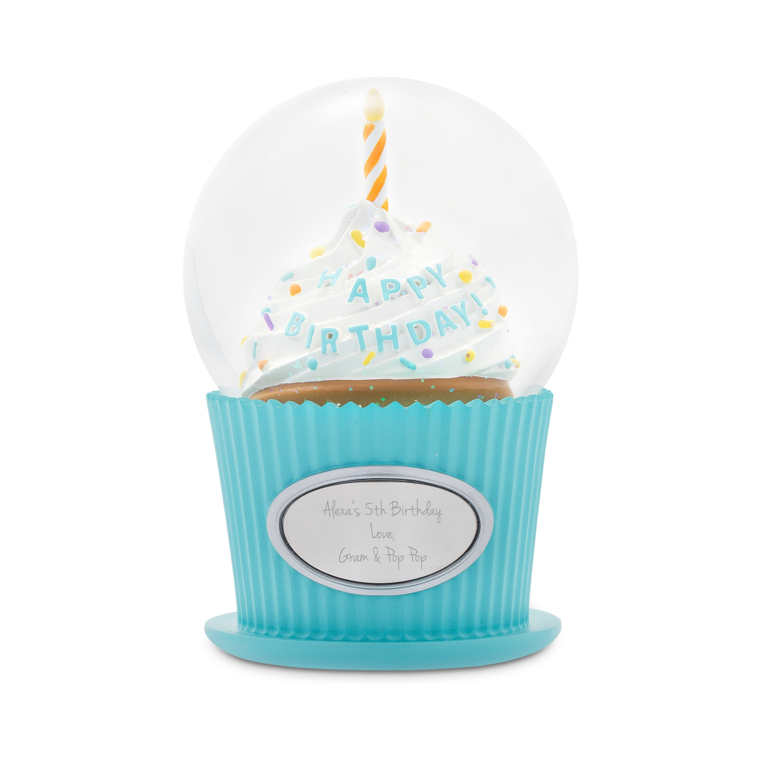 Happy Birthday Cupcake Snow Globe