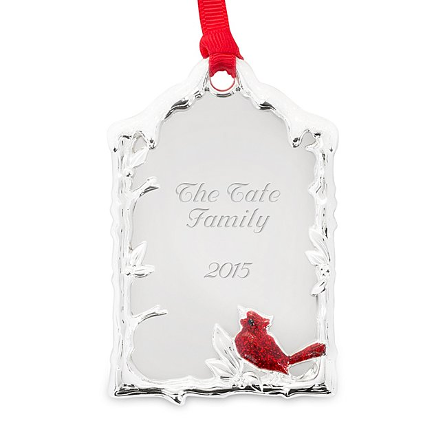Personalized Winter Cardinal Ornament