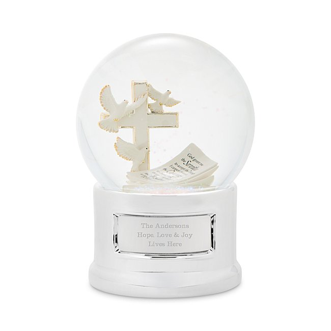 Personalized Serenity Prayer Musical Snow Globe