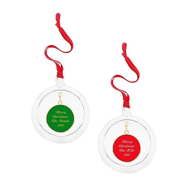 Glass Ball Charm Ornament...