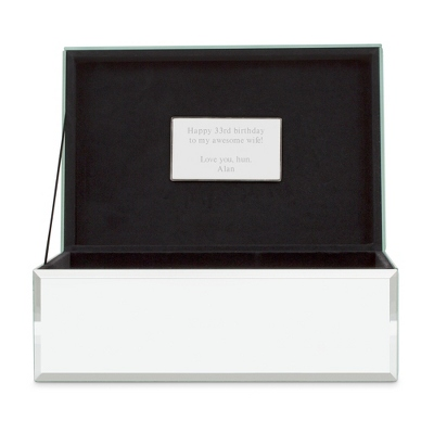 Large Mirrored Jewelry Box