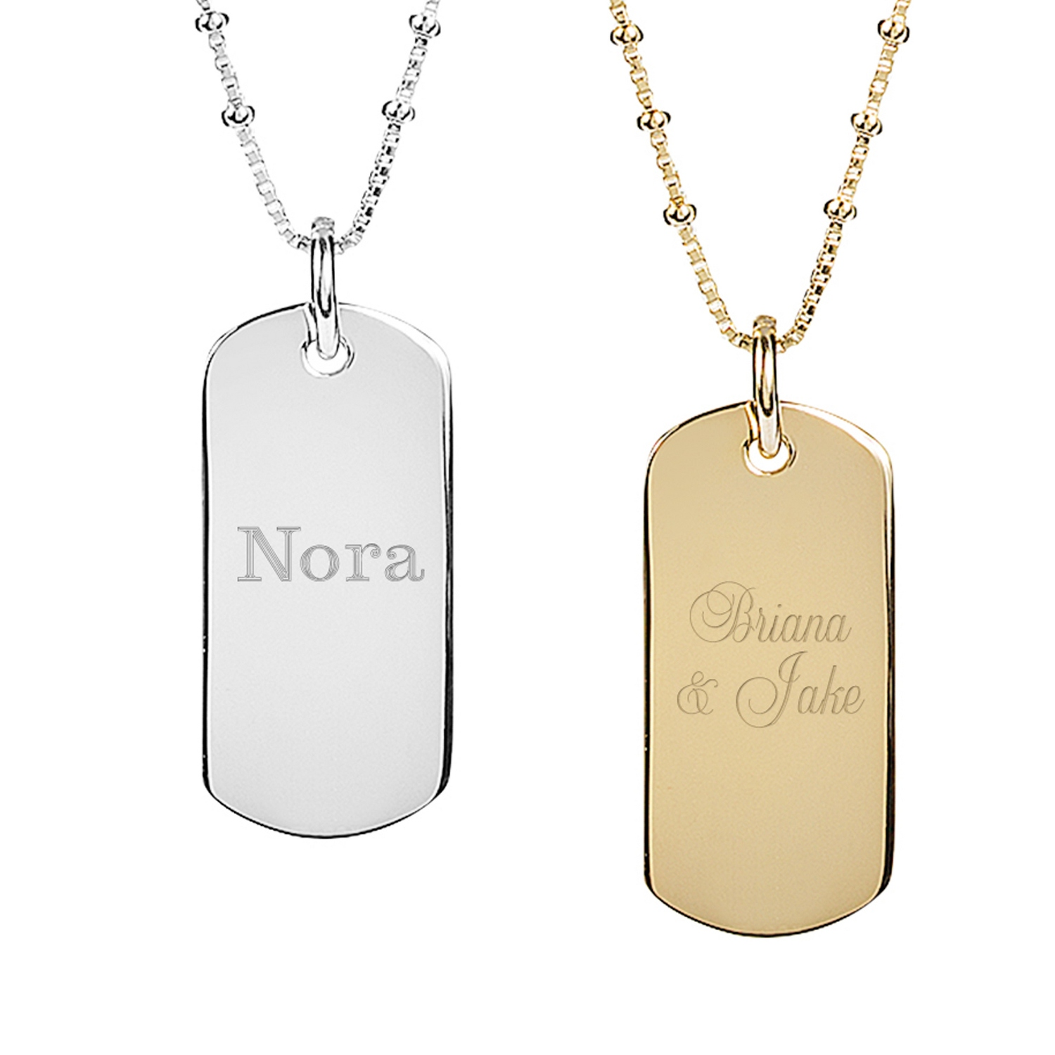 Sterling silver dog tag necklaces aloadofball Images