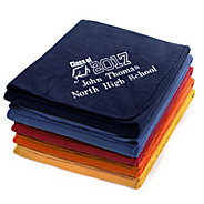 graduation fleece throws