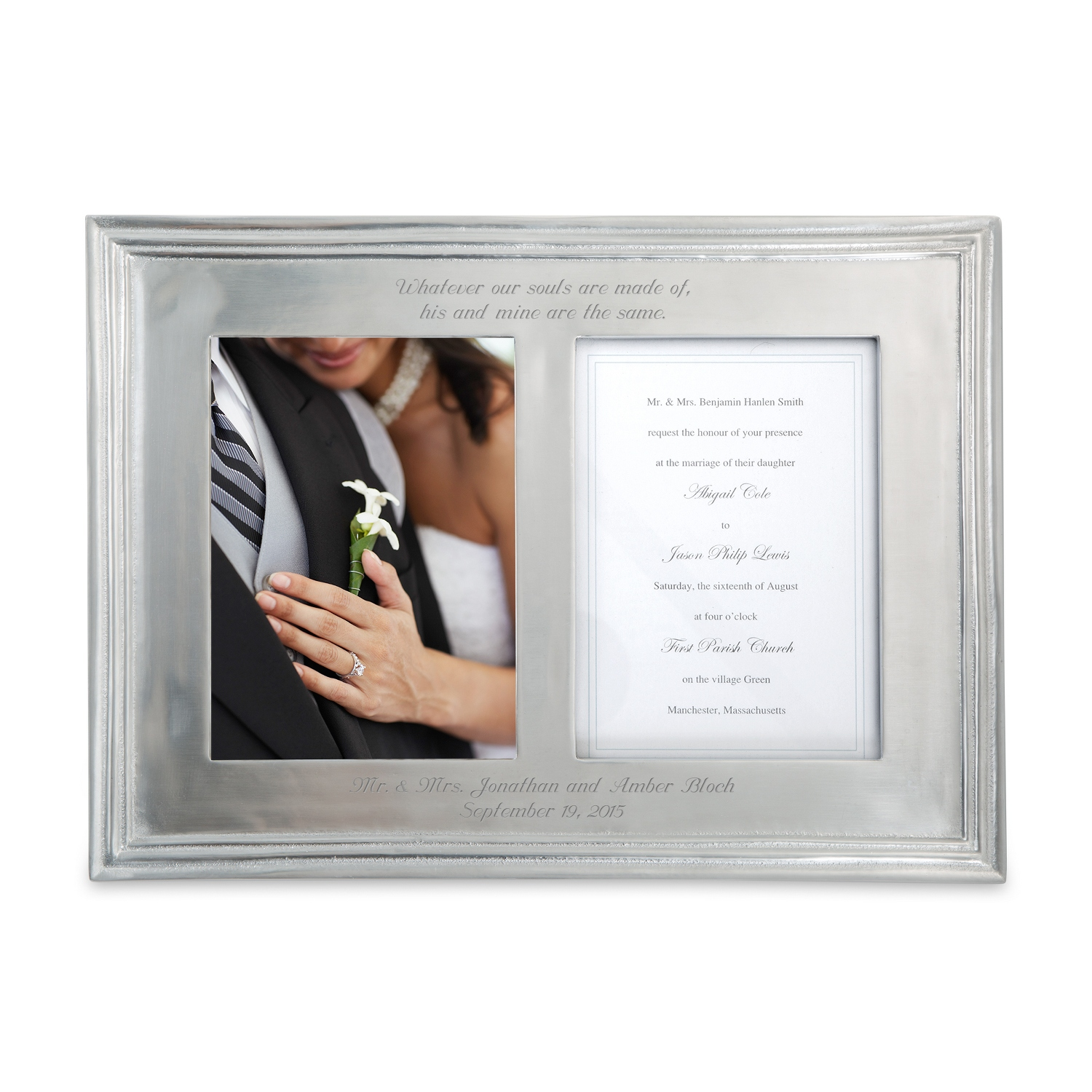Mariposa Classic Double 5x7 Picture Frame