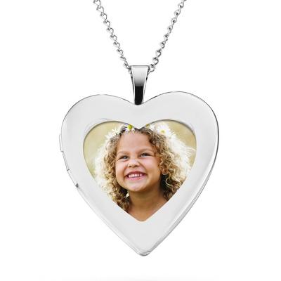 Image Sterling Silver Open Heart Locket