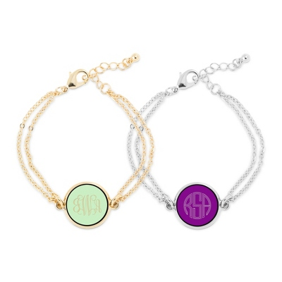 Personalized Monogram Bracelets at Things Remembered