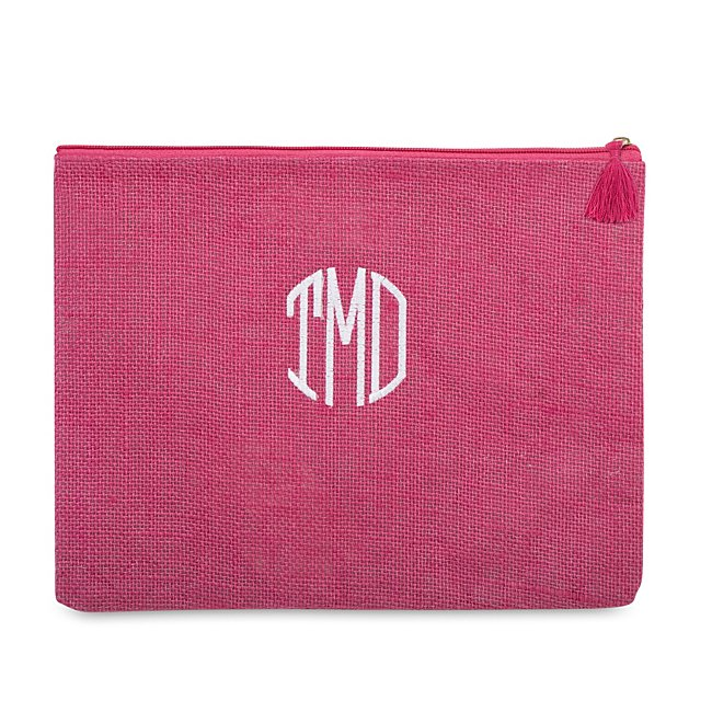 Pink Jute Carry-All Pouch...