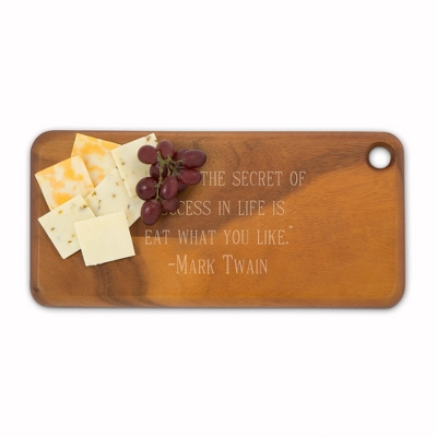 Medium Heritage Dark Acacia Wood Cutting Board - Kitchen Tools & Accessories - Cooking & Kitchen Gifts - Personalized At Things Remembered