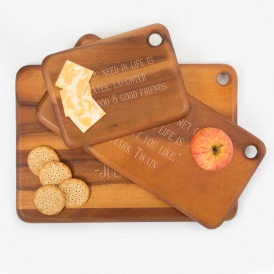Heritage Dark Acacia Wood Cutting Boards - Kitchen Tools & Accessories - Cooking & Kitchen Gifts - For The Couple - Personalized At Things Remembered