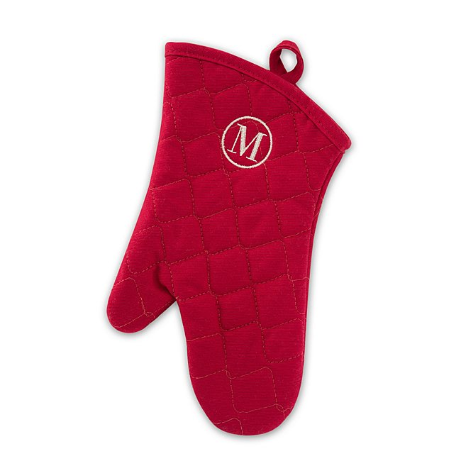 Red Quilted Oven Mitt photo