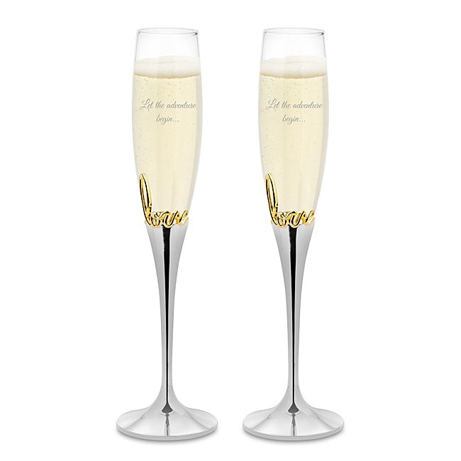 Gold Love Always Toasting Flute Set