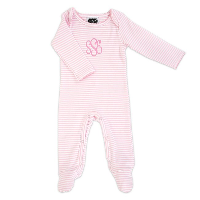 Pink Candy Striped Sleeper...