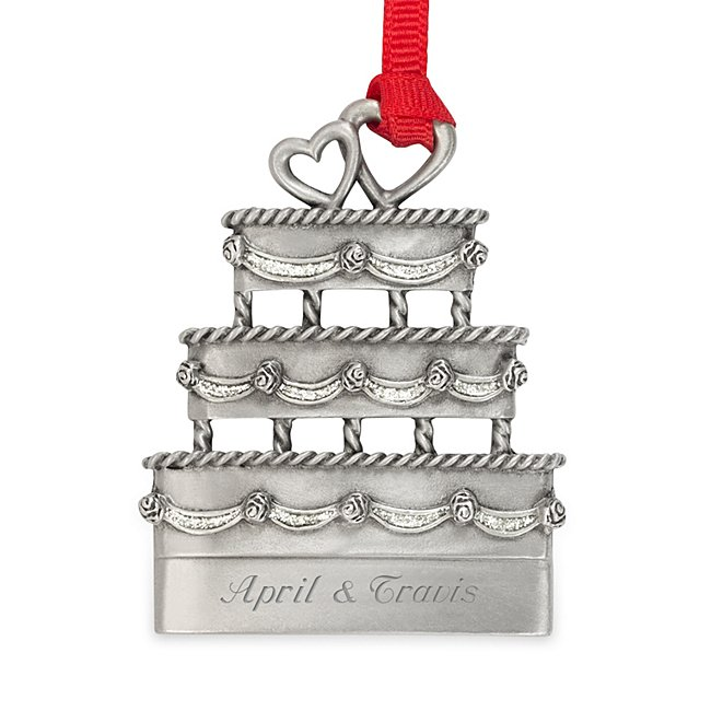 Pewter Wedding Cake Ornament...