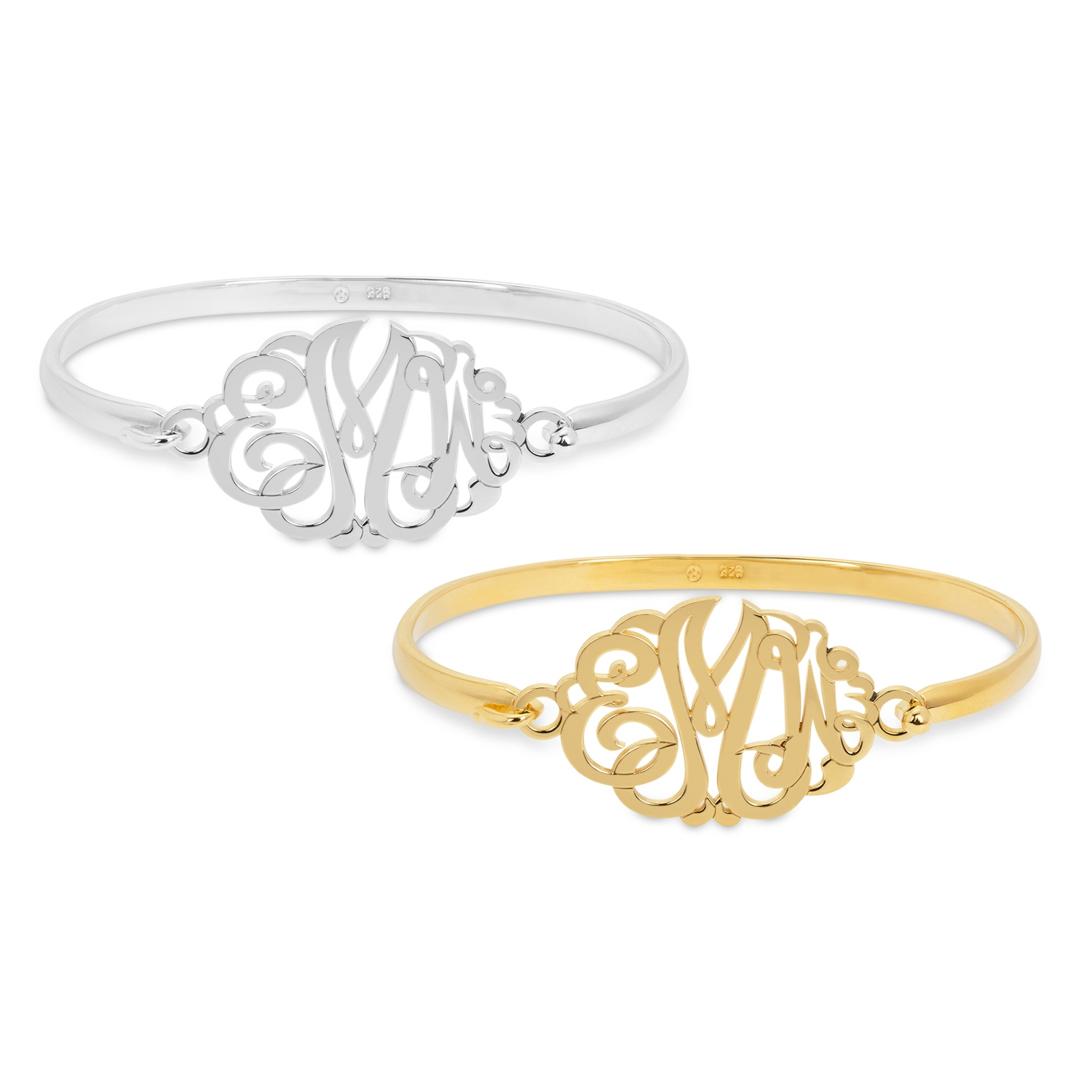 product gallery in monogram lyst bracelet co liven gold diamond white jewelry assorted normal