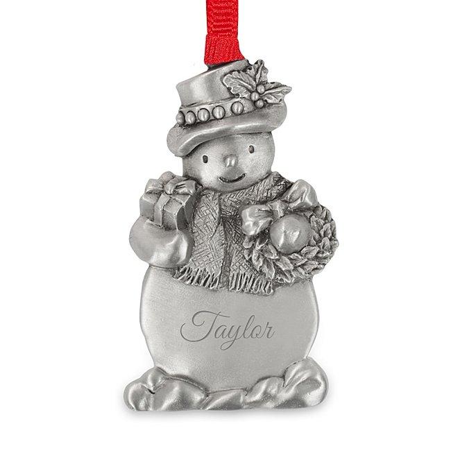 Pewter Snowman Ornament...