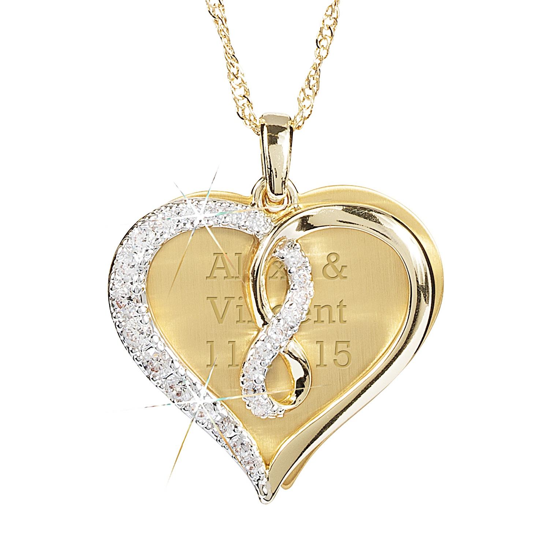 infinity heart swing necklace. Black Bedroom Furniture Sets. Home Design Ideas